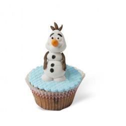 Τρισδιάστατο Cupcake Χιονάνθρωπο (Frozen)