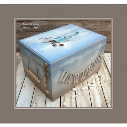 """Ξύλινο Κουτί Βάπτισης """"Αεροπλάνο"""""""
