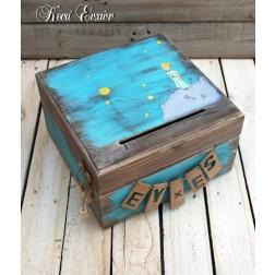 Ξύλινο Κουτί Ευχών - Μικρός Πρίγκιπας