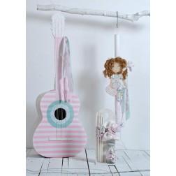 """Σετ Βάπτισης """"Shabby Guitar Doll"""""""