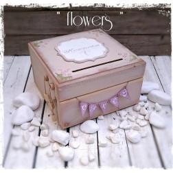 Χειροποίητο Κουτί Ευχών ''Flowers''