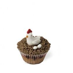 Τρισδιάστατο Πασχαλινό Cupcake Κοτούλα
