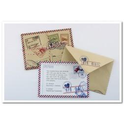 """Προσκλητήριο Βάπτισης """"Carte Postale"""" 1503"""