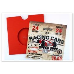 """Προσκλητήριο Βάπτισης """"Racing cars"""""""