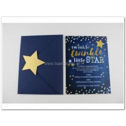"""Προσκλητήριο Βάπτισης """"Twinkle Little Star"""""""