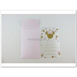 """Προσκλητήριο Βάπτισης """"Princess Minnie Mouse"""""""