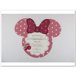 """Προσκλητήριο Βάπτισης """"Minnie Mouse"""""""