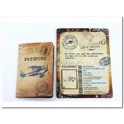 """Προσκλητήριο Βάπτισης """"Passport"""""""