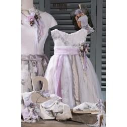 Βαπτιστικό Φόρεμα τούλινο φλοράλ