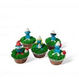Τρισδιάστατα Cupcakes Στρουμφάκια