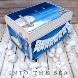 """Ξύλινο Κουτί Βάπτισης """"Into The Sea"""""""