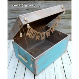 """Ξύλινο Κουτί Βάπτισης """"Καράβι"""""""