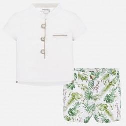 Σετ μπλούζα και παντελόνι κοντό σταμπωτό Νεογέννητο αγόρι Mayoral