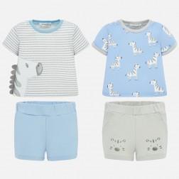 Σετ μπλούζα ζέβρα και παντελόνι κοντό Νεογέννητο αγόρι Mayoral