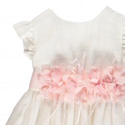 Φόρεμα Λευκό-Ροζ Brums