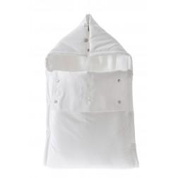 Φωλιά-Υπνόσακος CORDUROY Λευκή