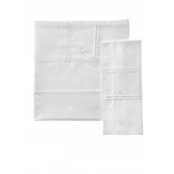 Βρεφικά Σεντόνια 3 Τεμαχίων CORDUROY Λευκό
