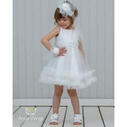 """Βαπτιστικό Φόρεμα """"Ennie"""" White Angel Wings"""