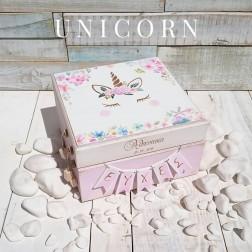 Ξύλινο Κουτί Ευχών ''Unicorn''
