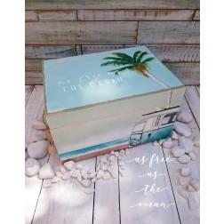 """Ξύλινο Κουτί Βάπτισης """"As Free As The Ocean"""""""