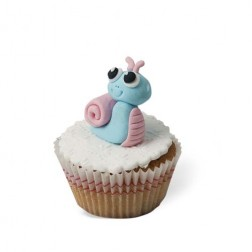 Τρισδιάστατο Cupcake Σαλιγκάρι
