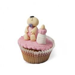 Τρισδιάστατο Cupcake Μωράκι Ροζ