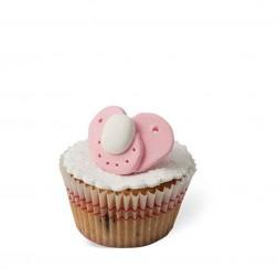 Τρισδιάστατο Cupcake Πιπίλα Ροζ