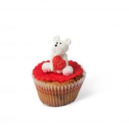 Τρισδιάστατο Cupcake Αρκουδάκι με Καρδιά