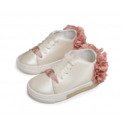 Δερμάτινα δίχρωμα Sneakers Babywalker EXC5725