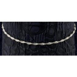 Ασημένια Στέφανα με Crystal Fabric