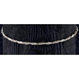 Ασημένια Στέφανα με Crystal Fabric & Swarovski