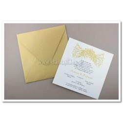 """Προσκλητήριο Γάμου """"Gold rose"""""""