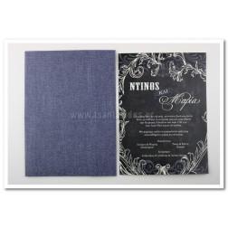 """Προσκλητήριο Γάμου """"Τζιν & Μαυροπίνακας"""""""