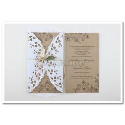 Ρομαντικό Προσκλητήριο Γάμου 7569
