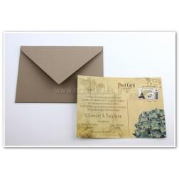 """Προσκλητήριο Γάμου """"Post card"""""""