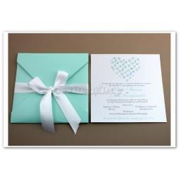"""Προσκλητήριο Γάμου """"Καρδιά Aqua"""""""