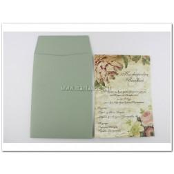 """Προσκλητήριο Γάμου """"Flowers"""""""