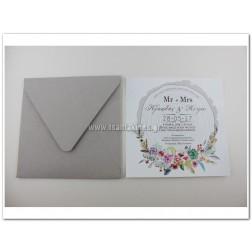 """Προσκλητήριο Γάμου """"Mr&Mrs"""""""