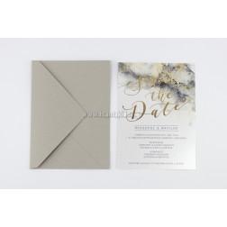 Προσκλητήριο Γάμου 7697 «Save the Date»