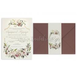 """Προσκλητήριο Γάμου """"Ρομαντικό Στυλ"""" 7716"""