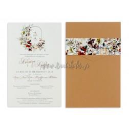 """Προσκλητήριο Γάμου """"Minimal Floral"""" 7731"""