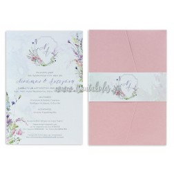 """Προσκλητήριο Γάμου """"Romantic Floral"""" 7732"""
