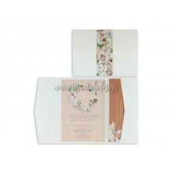 """Προσκλητήριο Γάμου """"Bohemian Floral"""" 7734"""