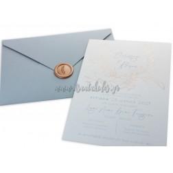 """Προσκλητήριο Γάμου """"Classic Elegance"""" 7741"""