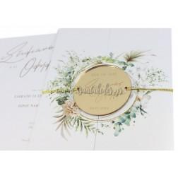 """Προσκλητήριο Γάμου """"Greenery Wreath"""" 7744"""
