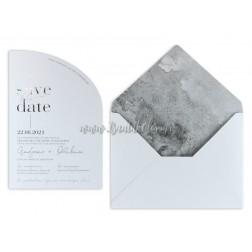"""Προσκλητήριο Γάμου """"Silver Chic"""" 7751"""