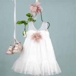 """Βαπτιστικό Φόρεμα """"Veronica"""" Bambolino"""