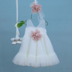 """Βαπτιστικό Φόρεμα """"Melina"""" Bambolino"""