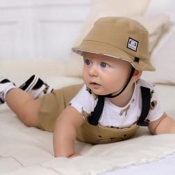 Φορμάκι μακό και καπέλο Νεογέννητο αγόρι