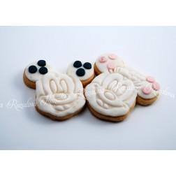 """Μπισκότο Βάπτισης Βουτύρου  """"Mickey & Minnie"""""""